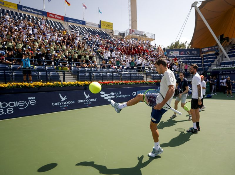 The children also had the chance to meet ATP ranked no.27, Pablo Carreno Busta and received some tips on how to improve their game-1582548591720