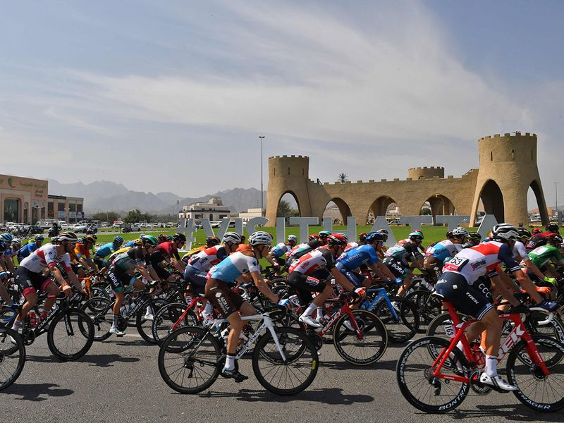 The route took cyclists from Hatta Heritage Village on a circuit loop to Fujairah and them back to the climb of Hatta Dam