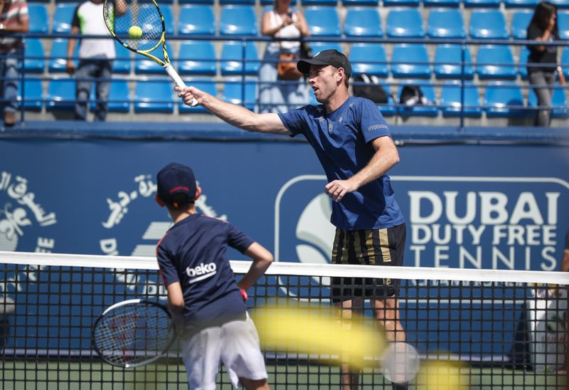 ATP doubles players, John Peers and Michael Venus had a practice session with the budding tennis stars (3)-1582635332648