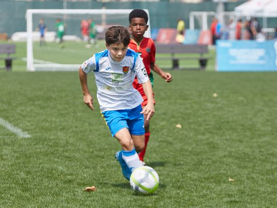 Action from the Dubai Sports Council Football Academies Championship