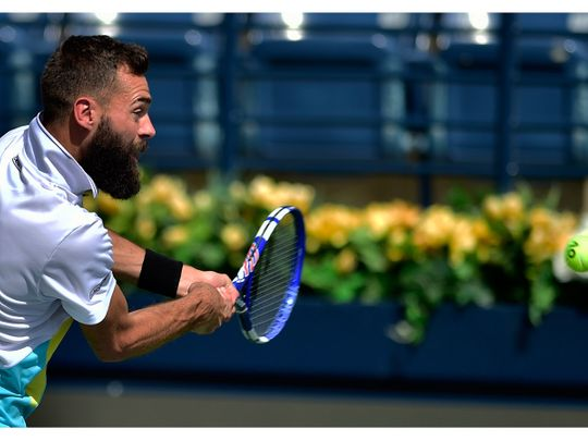 Bruno Paire in action against Maric Cilic