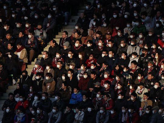 Japan suspends football over coronavirus as Olympics loom