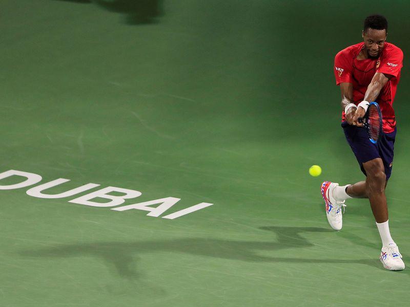 Gael Monfils also advanced in Dubai, defeating Marton Fucsovics 6-4, 7-5
