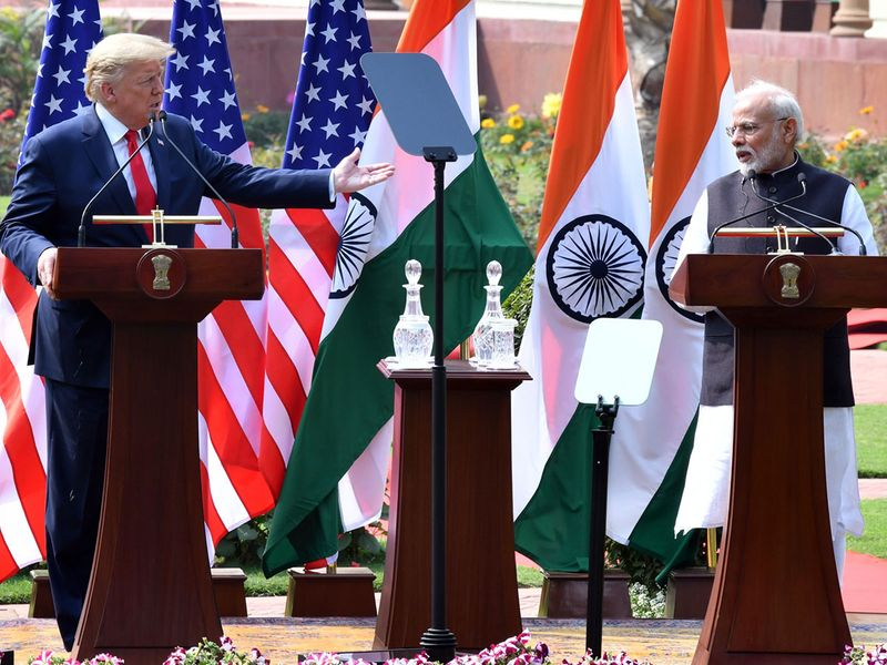 India's Prime Minister Narendra Modi and US President Donald Trump
