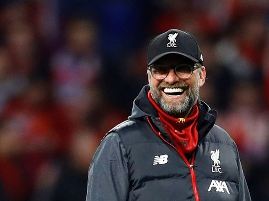 Liverpool boss Jurgen Klopp smiles after the 3-2 win over West Ham