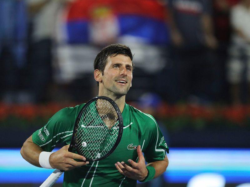 Novak djokovic eased through against Jaziri 6-1, 6-2