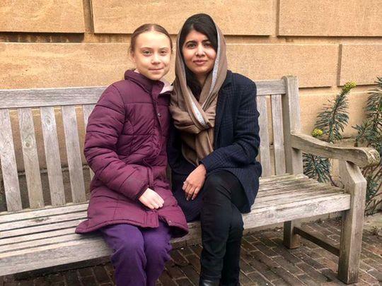 Greta Thunberg meets Malala