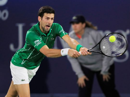 Novak Djokovic, Gael Monfils book quarter-final spots in Dubai Duty Free Men's Open