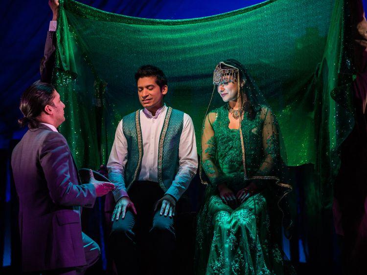 The Kite Runner 2018 - 13 The wedding RAJ GHATAK (Amir) and Amiera Darwish( Soraya) Photo Betty Zapta-1582714841828