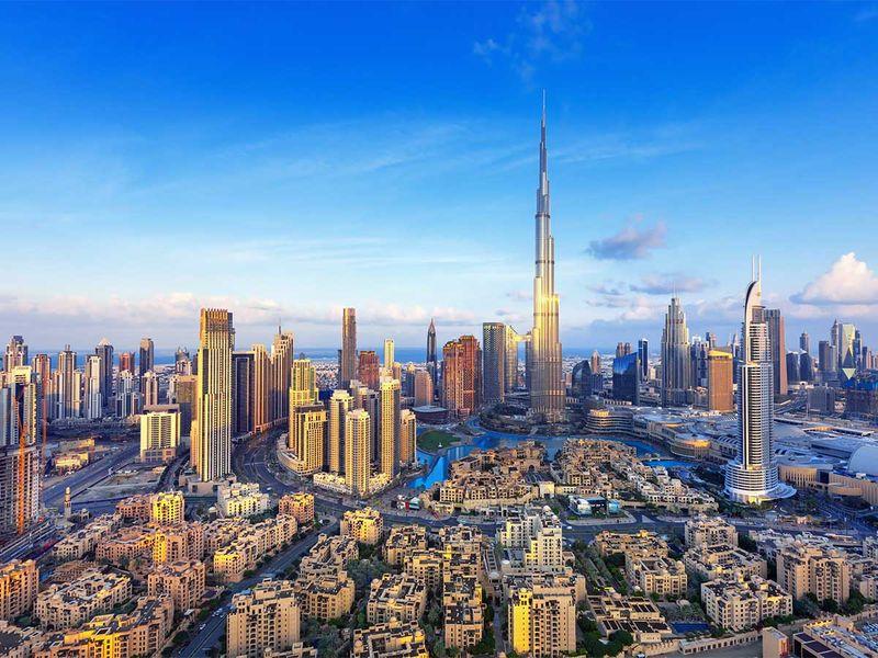 burj khalifa dubai skyline generic