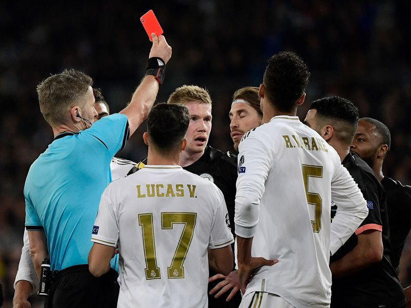 It got worse for Real as Sergio Ramos was sent off late on for a second yellow card