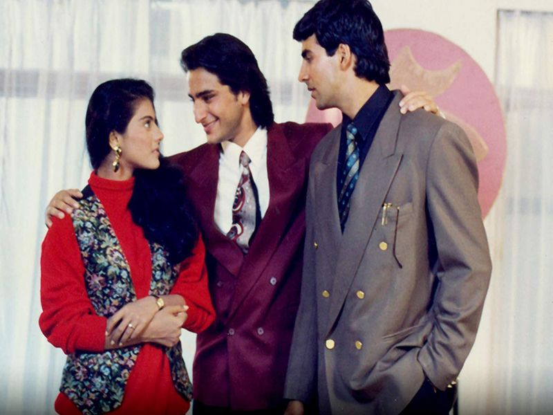Kajol, Saif Ali Khan and Akshay Kumar in 'Yeh Dillagi'