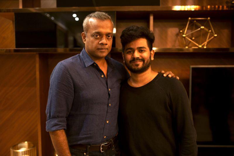 Len Prasad with director-turned-actor Gautham Menon.-1582786354078