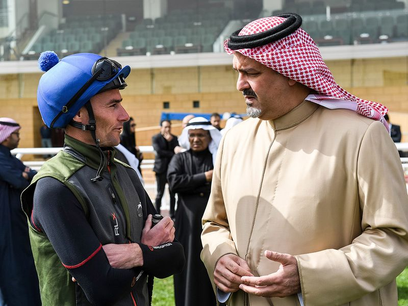 Prince Bandar at the track in Riyadh