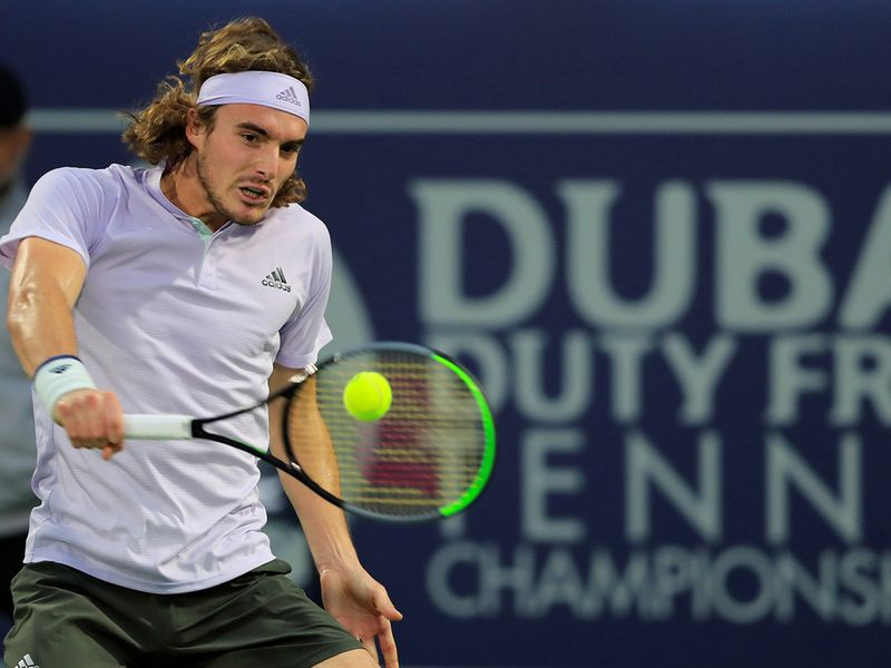 Stefanos Tsitsipas in action against Jan Lennard Struff