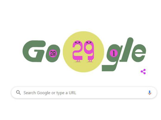 Google on Saturday celebrated Leap Day