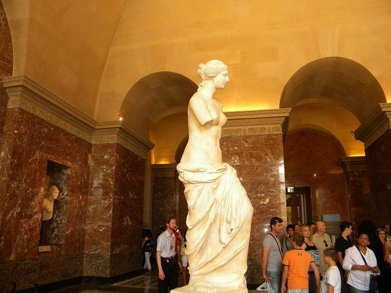 Venus de Milo sculpture in Louvre Museum,