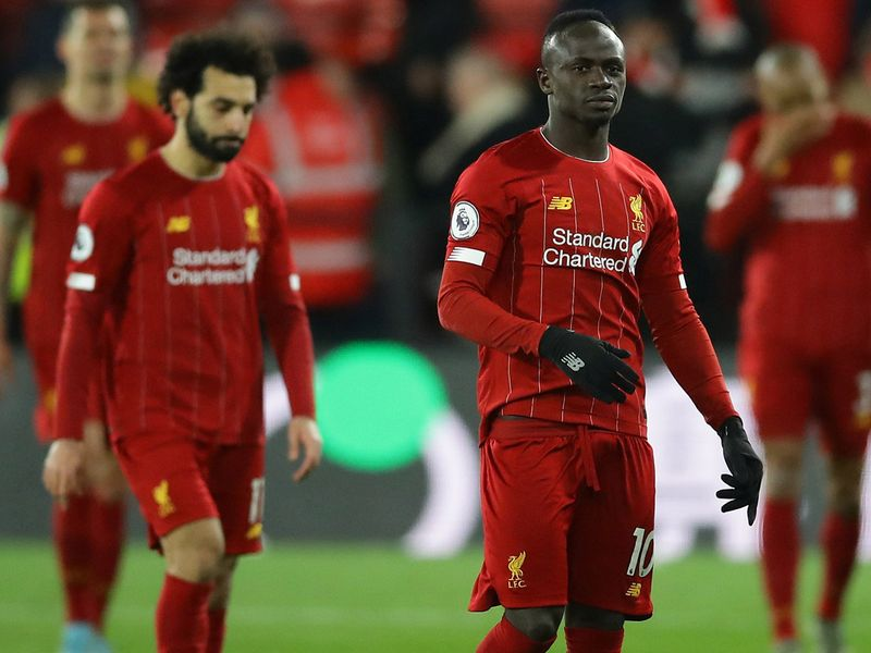 Liverpool's Sadio Mane looks dejected at the end of the match against Watford