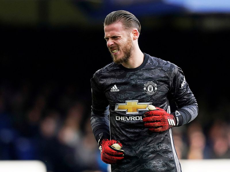 Manchester United's David de Gea after his latest blooper