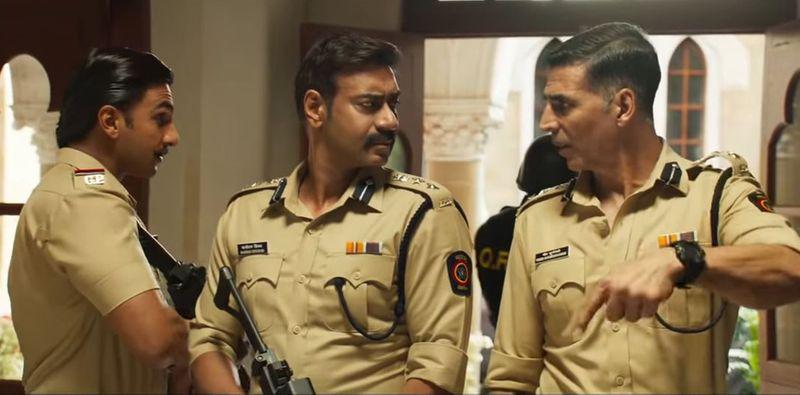 Ranveer Singh, Ajay Devgn and Akshay Kumar