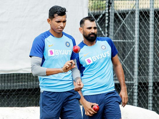 Navdeep Saini and Mohamed Shami