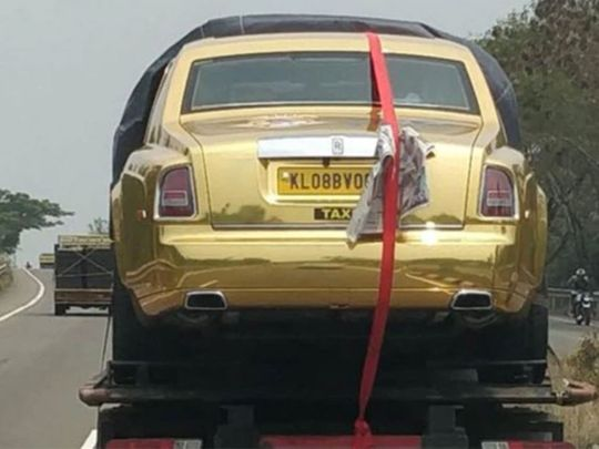 Video: Kerala businessman to use a gold Rolls-Royce ...