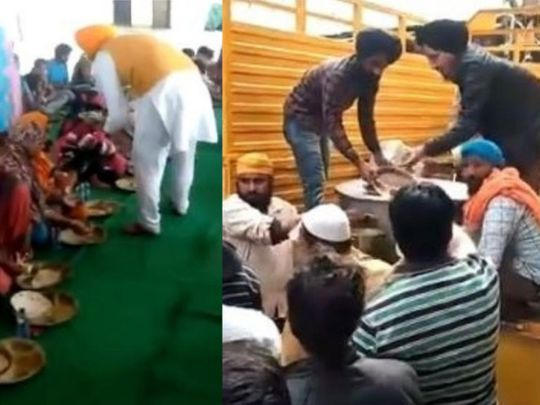 Sikhs are coming to the help of Muslim victims in Delhi.