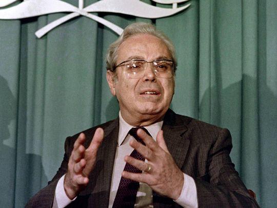 Former UN Secretary General Javier Perez de Cuellar