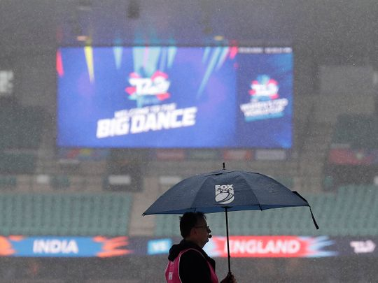 India v England was washed out in Australia at the Women's T20 World Cup