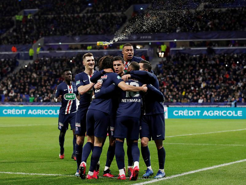 Paris St-Germain defeated Lyon 5-1 in the Fench Cup