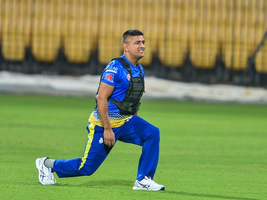 MS Dhoni in training for Chennai Super Kings