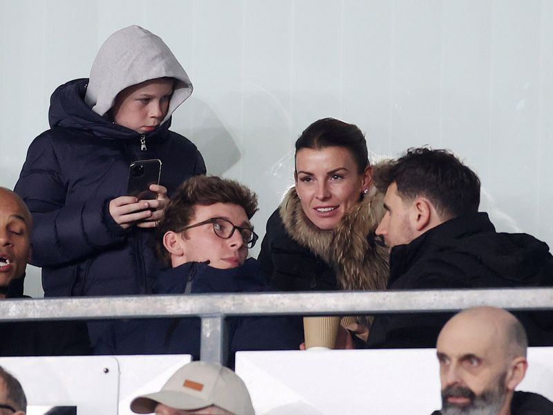 Wayne Rooney's wife Coleen watched Derby County against Manchester United