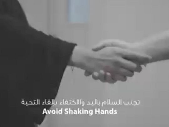 UAE Ministry of Health warns against hand shakes and other greetings