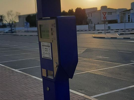 Blue parking metres