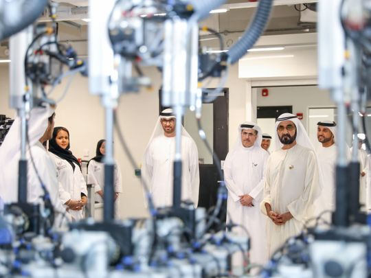 His Highness Sheikh Mohammad bin Rashid Al Maktoum, Vice President and Prime Minister of UAE and Ruler of Dubai inaugurates DEWA's R&D Centre at Solar Park