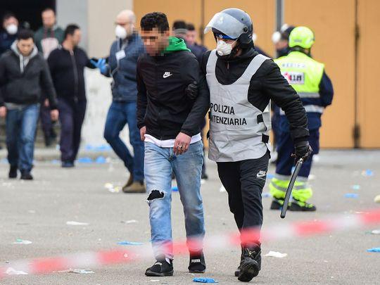 Milan prison riot