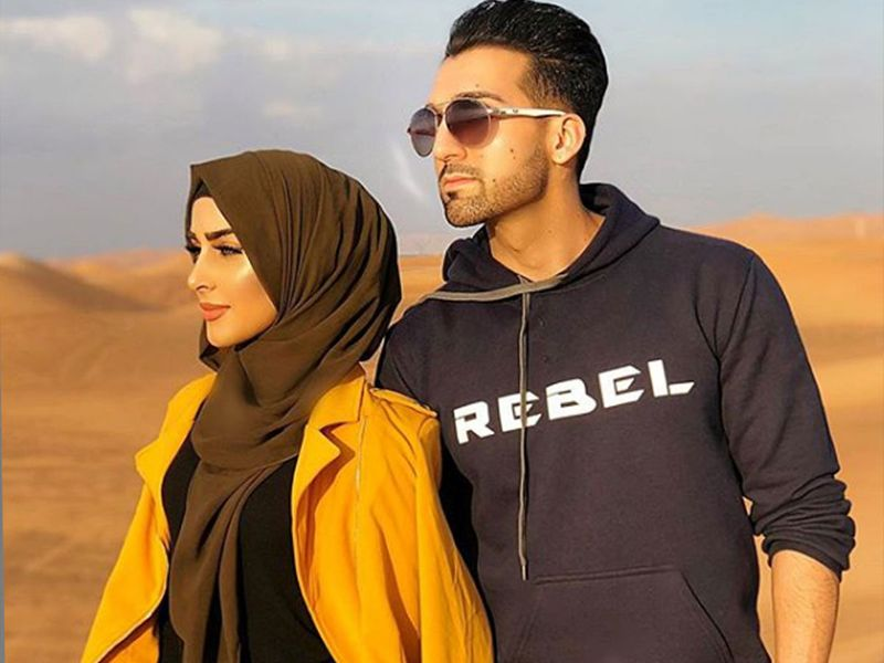 Sham Idrees  and his wife Seher