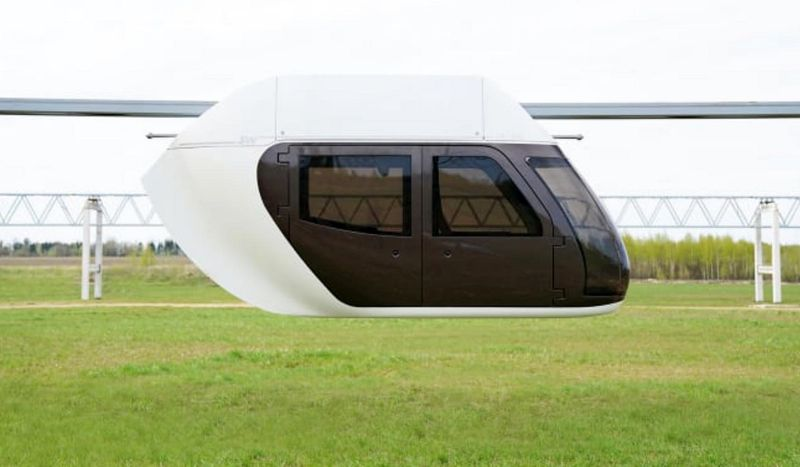 A Sky pod capsule as shown in Dubai Media Office tweets on Tuesday
