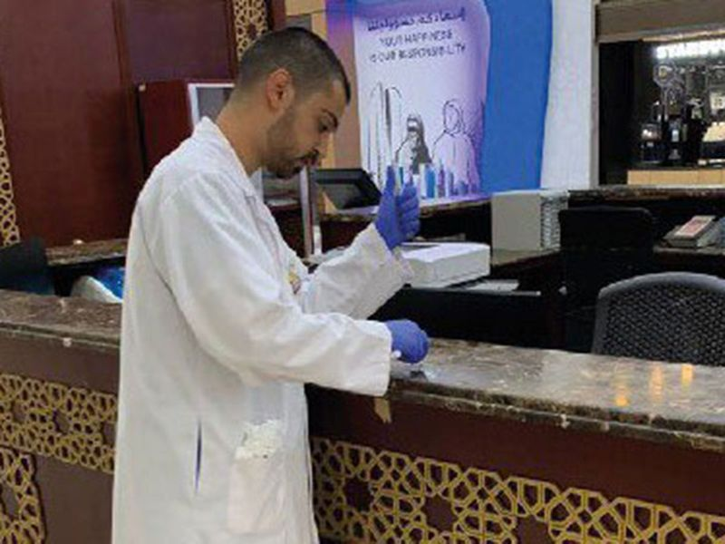 Abu Dhabi inspectors against coronavirus