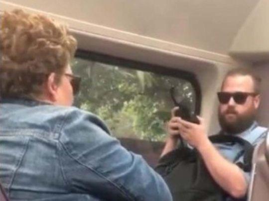 Australia train fight