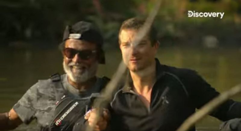 Rajinikanth and Bear Grylls