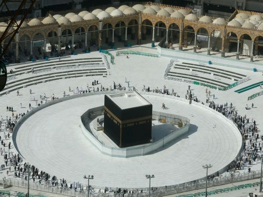 A view of Mekkah from above during recent closures due to coronavirus