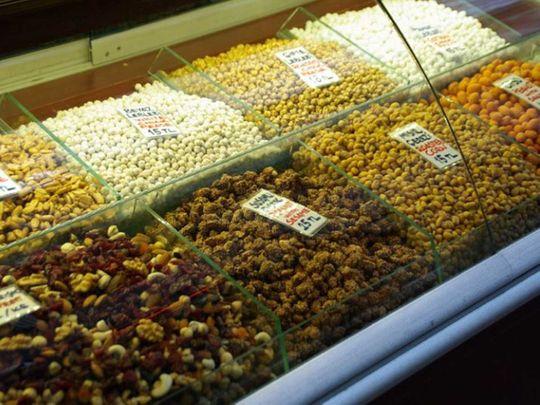 Nuts at supermarket
