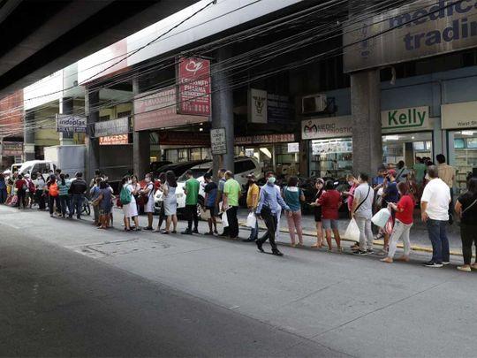 Panic buying Manila