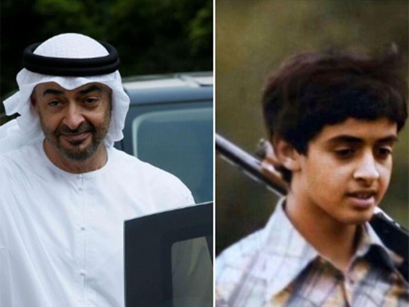 Young and old Sheikh Mohammed Bin Zayed