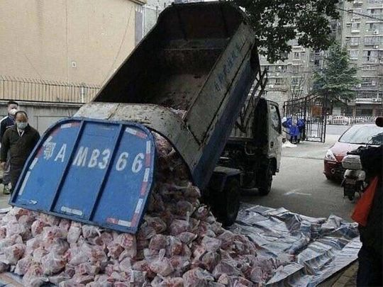 Garbage truck meat