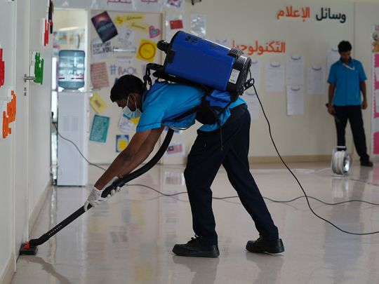 School cleaning COVID-19