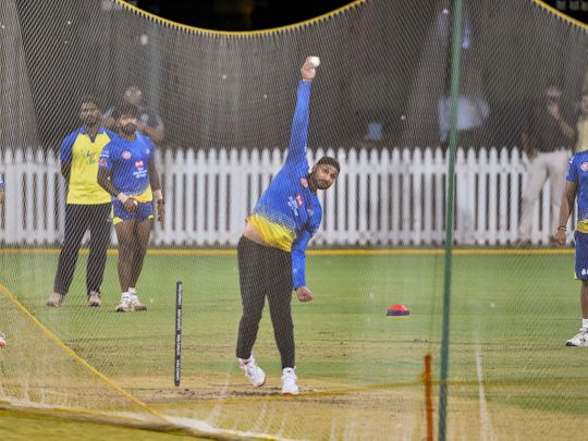 Chennai: Indian cricketer Harbhajan Singh during the practice session, at MA Chidambaram Stadium in Chennai, Thursday, March 12, 2020.  The spread of coronavirus has cast a shadow with Sports Ministry planning to hold IPL matches in closed doors as foreign players were ruled out of the game till April 15 following government-imposed travel restrictions. (PTI Photo)(PTI12-03-2020_000232B)