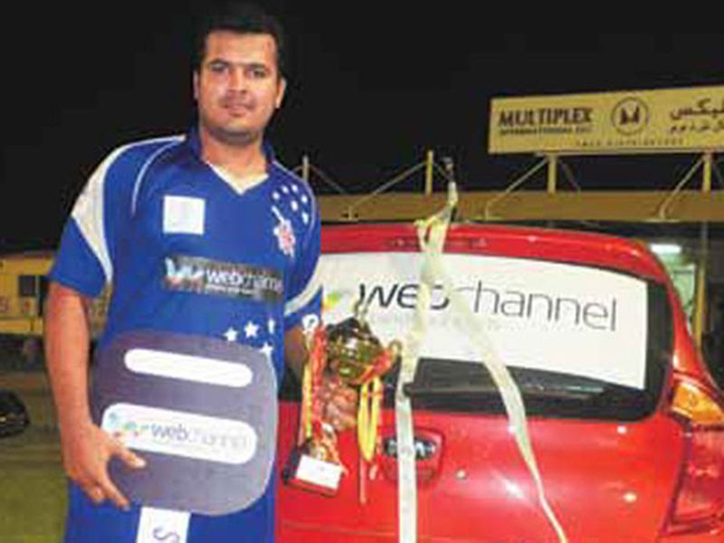 Sharjeel with his Kia Picanto in the UAE