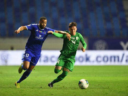 Al Nasr defeated Khor Fakkan 1-0 in the AGL